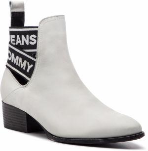 95006e05f464 Členková obuv TOMMY JEANS - Pop Webbing Chelsea Boot EN0EN00433 White 100