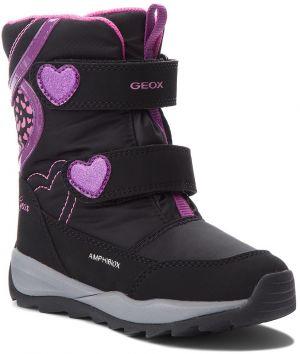 35c8e6981744 Geox Chlapčenské zimné topánky New Gulp - šedo-červené značky Geox ...