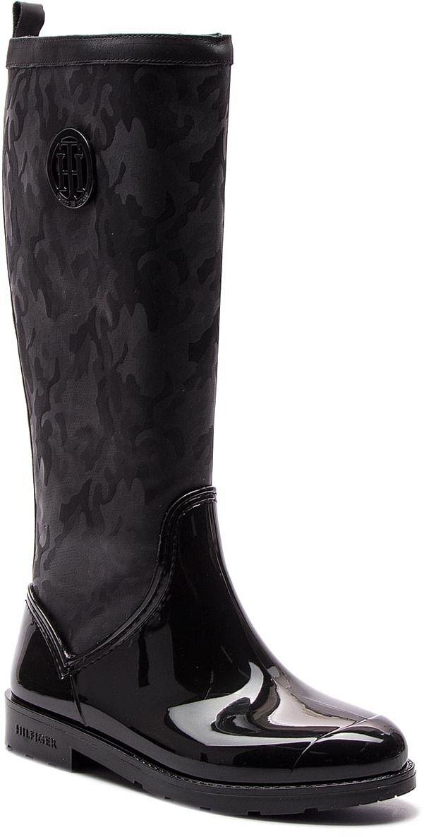 Gumáky TOMMY HILFIGER - Shiny Camo Long Rain FW0FW03602 Black 990 značky Tommy  Hilfiger - Lovely.sk 225fedc283f