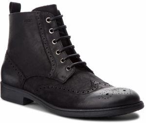 d374953ca1 Čierne pánske zateplené kožené topánky Geox Jaylon značky Geox ...