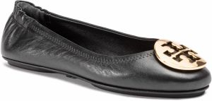 Baleríny TORY BURCH - Minnie Travel Ballet With Metal Logo 50393 Perfect Black/Gold 013