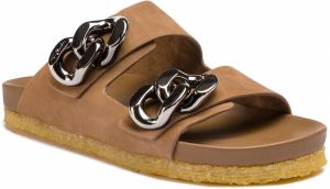Šľapky TORY BURCH - Adrien Two Band Slide 54898 Rocky River/Gunmetal 203