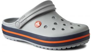 Šľapky CROCS - Crocband 11016 Light Grey/Navy