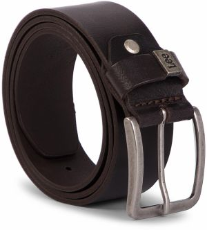 Opasok Pánsky LEE - Small Logo Belt LA035324 85 Dark Brown