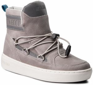Outdoorová obuv MOON BOOT - Pulse Jr Boy Detroit 34061000002 Ice/Silver