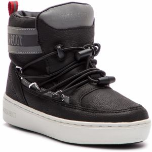 Outdoorová obuv MOON BOOT - Pulse Jr Boy Detroit 34061000001 Black/Silver