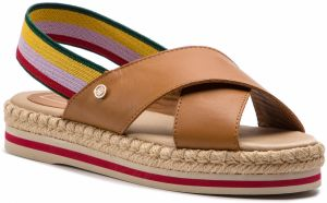 b5a4702d9d77 Espadrilky TOMMY HILFIGER - Colorful Rope Flat Sandal WF0FW04060 Summer  Cognac 929