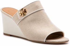 Šľapky TORY BURCH - Kira 65mm Open Toe Mule 55520 Natural/Perfect Ivory 263