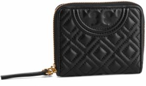 Malá Dámska Peňaženka TORY BURCH - Fleming Medium Wallet 50264 Black 001