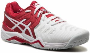 Topánky ASICS - Gel-Resolution Novak Clay E806N Classic Red/White/Silver