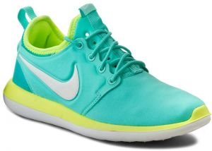 Topánky NIKE - Roshe Two (GS) 844655 300 Hyper Turq/Mtlc Summit Wht/Volt