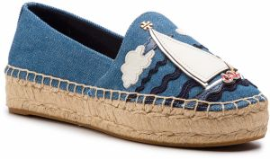 Espadrilky TORY BURCH - Seaside Espadrille 54974 Denim Chambray/Multi Multi 415