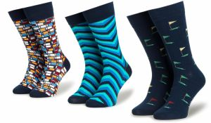 Tmavomodré unisex kvetované ponožky Fusakle Na lúke značky Fusakle ... bd30390fcb
