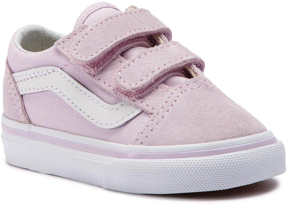 Sneakersy VANS - Old Skool V VN0A344KUJM1 Lavender Fog True White ... a45dfaca54b