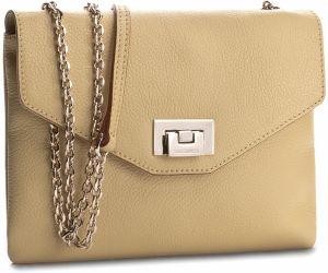 bfb382750 Žltá listová kabelka s vyšívaným motívom a detailmi v zlatej farbe ...