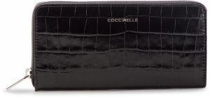 33792e9372 Veľká Peňaženka Dámska COCCINELLE - DW8 Metallic Croco E2 DW8 11 04 01 Noir  001