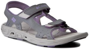 Sandále COLUMBIA - Youth Techsun Vent BY4566 Tradewinds Grey/White Violet