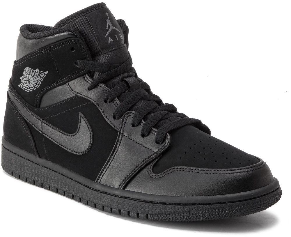 0bedfccc7afcd Topánky NIKE - Air Jordan 1 Mid 554724 050 Black/Dark Grey/Black ...