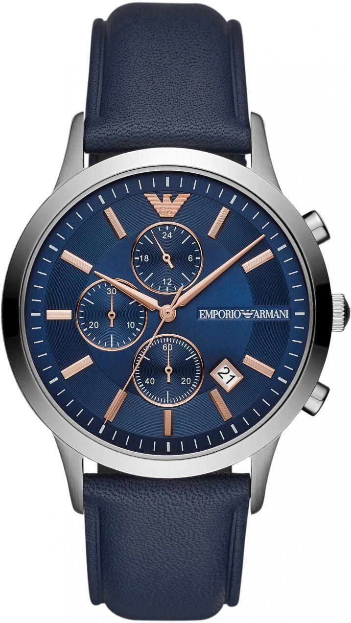 Hodinky EMPORIO ARMANI - Renato AR11216 Navy Silver značky Emporio ... bd9075a8357