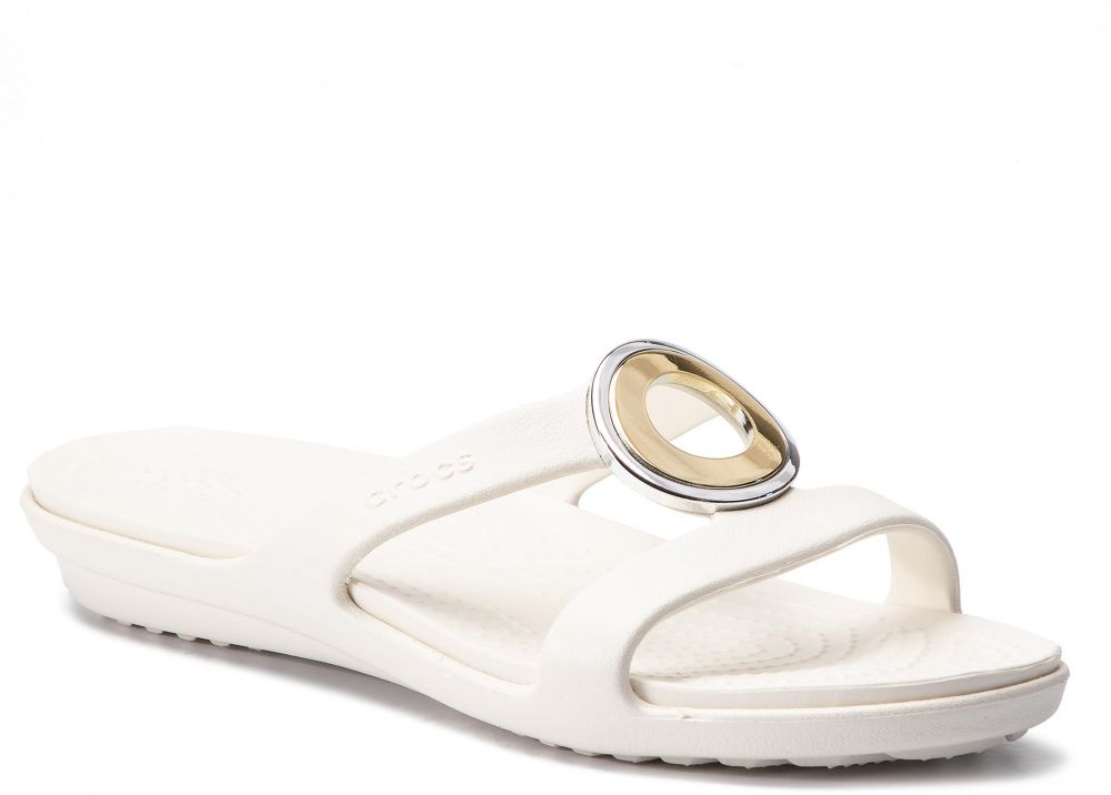 a536898573 Šľapky CROCS - Sanrah Metalblock Sandal W 205592 Multi Metal Oyster ...