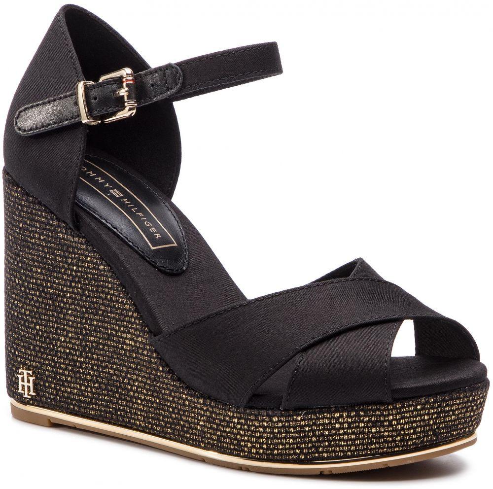 e7fca01ea10fa Espadrilky TOMMY HILFIGER - Feminine Wedge Sandal Basic FW0FW04078 Black 990