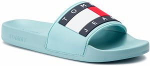 Šľapky TOMMY JEANS - Flag Pool Slide EN0EN00474 Canal Blue 446