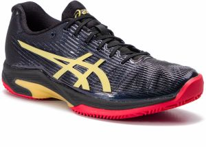 Topánky ASICS - Solution Speed FF L.E Clay 1041A055 Black/Rich Gold 001