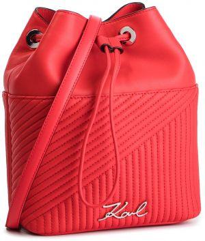 2698f55e6 Červená malá koženková vaková kabelka Calvin Klein Jeans značky ...