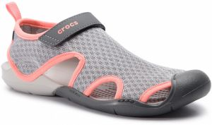 Sandále CROCS - Swiftwater Mesh Sandal W 204597 Light Grey/Pearl White