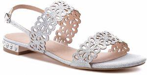 207ec16e7367 Strieborné dámske nízke sandále - Lovely.sk