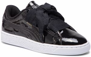 Sneakersy PUMA - Basket Heart Patent Jr 364817 01 Black/Prism Pink/Gold/White