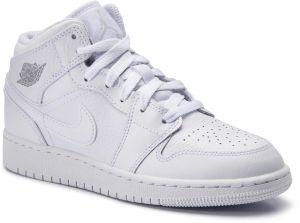 f2d4c9ea7160 Topánky NIKE - Air Jordan 1 Mid (GS) 554725 109 White PurePlatinum
