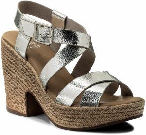 f2ca3ca716e8 Strieborné dámske sandále na platforme - Lovely.sk