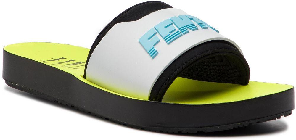 quality design 0d195 4a8a0 Šľapky PUMA - Fenty Surf Slide Wns 367747 02 Fuma Black/White/Yellow