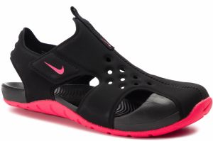 ddcf495e2a8c1 Sandále NIKE - Sunray Protect 2 (PS) 943826 003 Black/Racer Pink