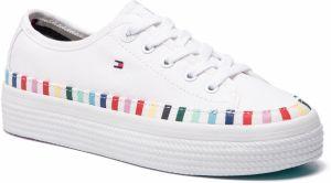 623ab1b224 Tenisky TOMMY HILFIGER - Rainbow Flatform Sneaker FW0FW04069 White 100