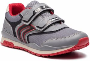 Sneakersy GEOX - J Pavel A J9215A 014BU C0051 D Grey/Red