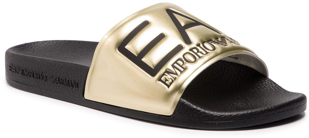 5bae678863 Šľapky EA7 EMPORIO ARMANI - XCP001 XCC22 D467 Shiny Gold Black ...