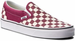 Tenisky VANS - Classic Slip-On VN0A38F7U7A (Checkerboard) Dry Rose/W