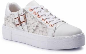 7b1e9c9807aa Biele tenisky na platforme s ozdobnými detailmi Tamaris značky ...