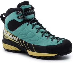 Trekingová obuv SCARPA - Mescalito Mid Gtx Wmn GORE-TEX 72095-202 Green Blue/Light Lemon