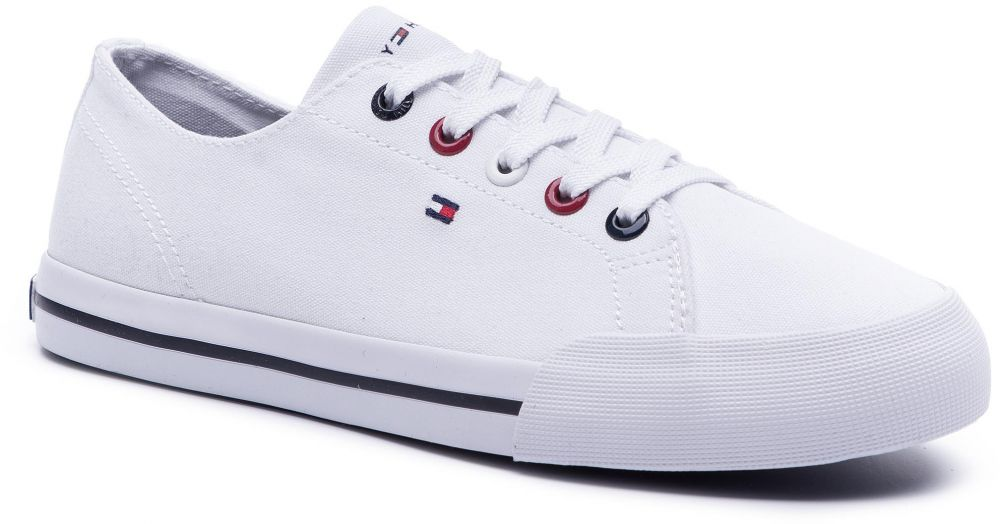 b9eac38b693c5 Tenisky TOMMY HILFIGER - Tommy Essential Sneaker FW0FW04139 White 100