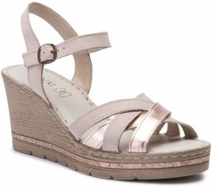 395188bcbb5bf Ružové metalické sandále na kline OJJU značky OJJU - Lovely.sk