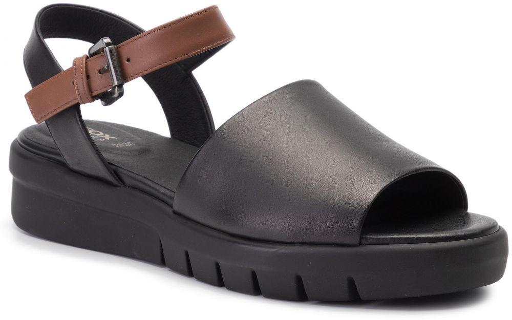 9129d4cb6 Sandále GEOX - D Wimbley Sand A D92DPA 00043 C0111 Black/Brown ...
