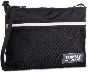 ca2ffb78bd Čierna pánska kožená crossbody taška Tommy Hilfiger značky Tommy ...