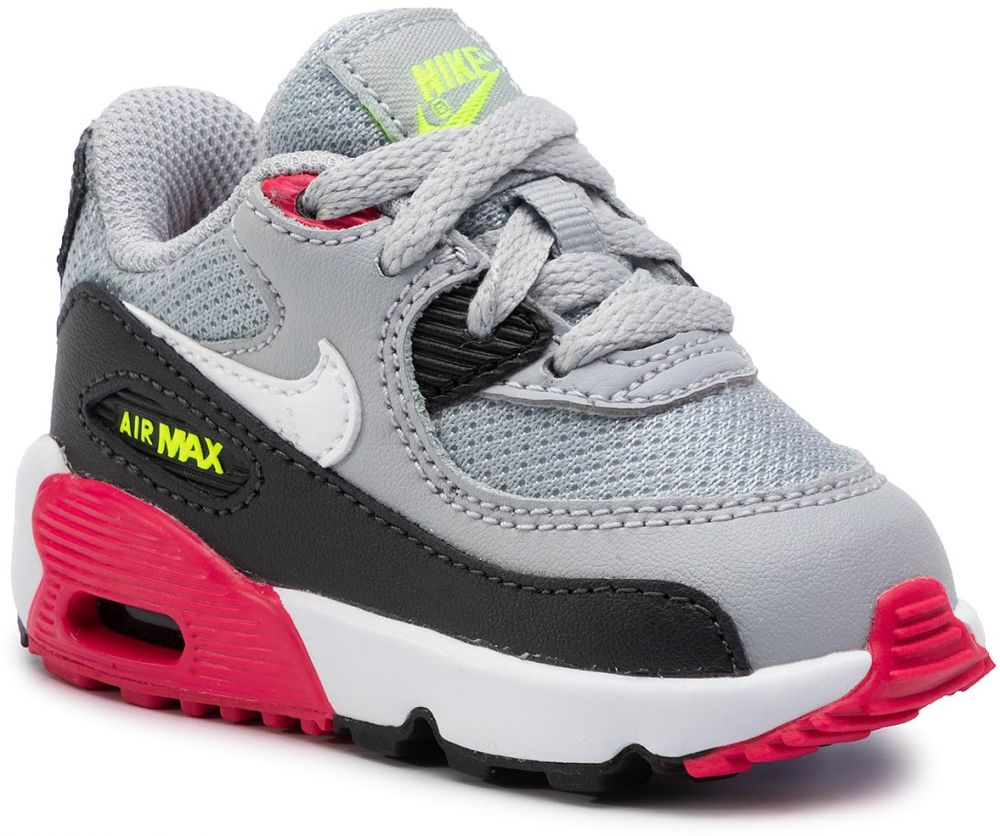 677c6fc23a606 Topánky NIKE - Air Max 90 Mesh Bt 833422 027 Wolf Grey/White/Rush Pink/Volt