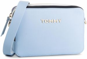 e97ded030d Tmavomodrá crossbody kabelka s detailmi v striebornej farbe Tommy ...