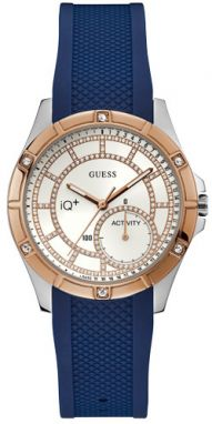 Hodinky GUESS - Brooke C2002L2 SILVER TONE/ROSE GOLD TONE/BLUE
