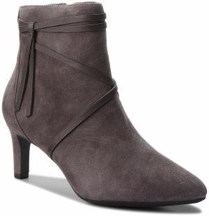 509615d9d3 Členková obuv CLARKS - Calla Aster 261363694 Dark Grey Suede