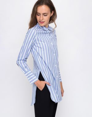 Edited Sonja White, Light Blue Stripes